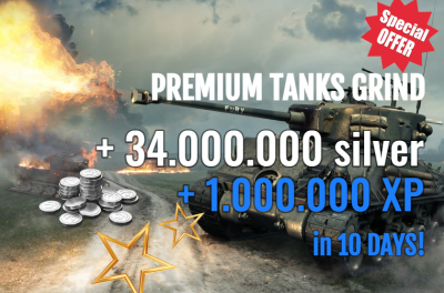 1.000.000 XP on PREMIUMS + 34.000.000 Silver