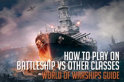 Wie man auf Schlachtschiffen gegen Schiffe anderer Klassen spielt
