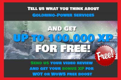 Send Us review and Get up to 100 000 XP for FREE