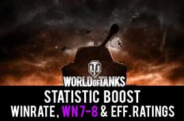 Verbessere Winrate und WN8-Wertung. Einfacher WOT-Statistikboost.