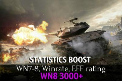 Statistic boost WN8 3000+