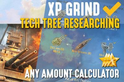 XP ANY AMOUNT (TECH-TREE LEVELING)
