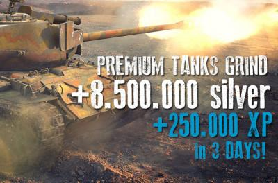 250.000 XP on PREMIUMS + 8.750.000 Silver