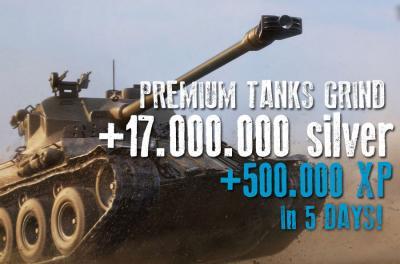 500.000 XP auf PREMIUMS + 17.000.000 Silber