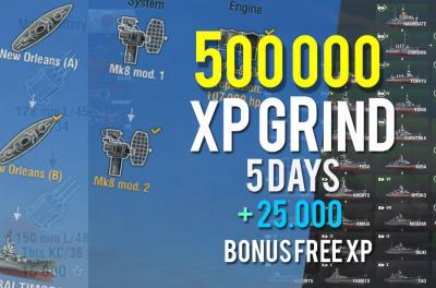 500.000 XP PACK + 25 000 FREE XP