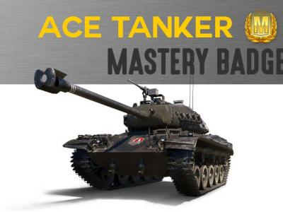 "Mastery badge ""ACE TANKER"" for any tank or SPG (Arty)"