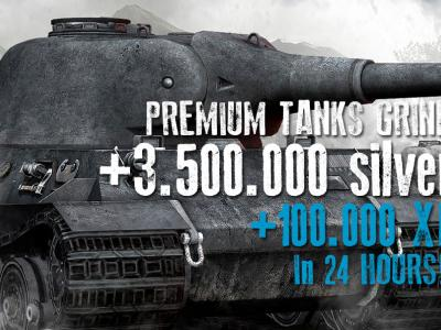 100.000 XP on PREMIUMS + 3.500.000 silver