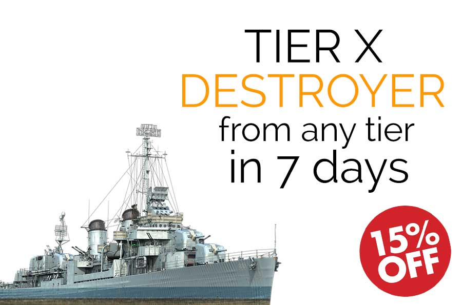 Get Top Tier Destroyer from Any Tier in 7 days