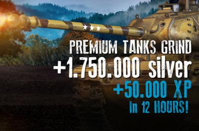 50.000 XP on PREMIUMS + 1.750.000 Silver