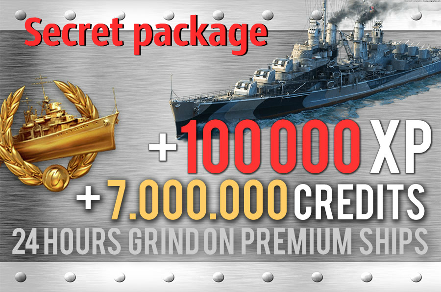 100.000 XP + 7.000.000 Credits - Grind on Premium Ships